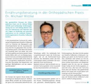 Dr Wittke Orthopaedie Ernaehrung